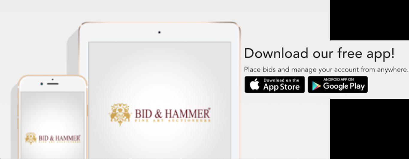 Download the Bid & Hammer Mobile App